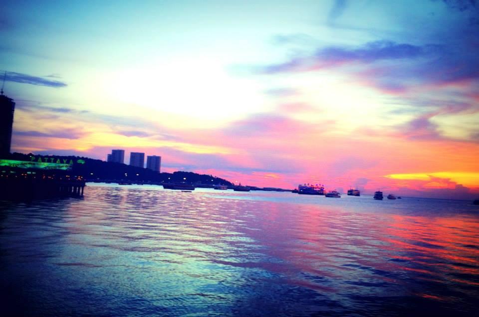 Beautiful sun-set at Pattaya