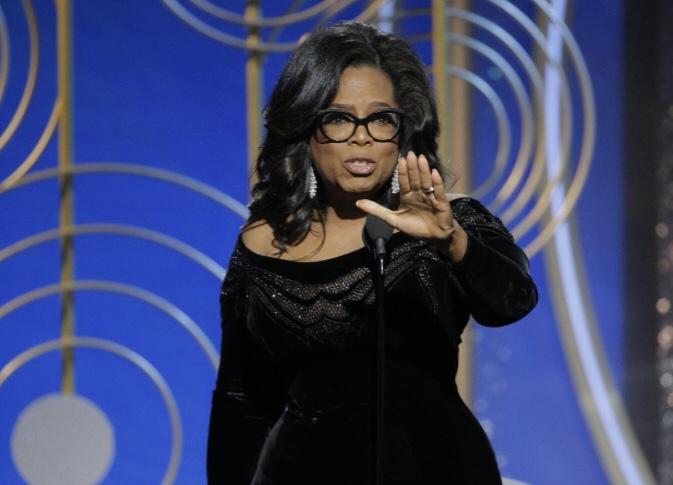 Oprah Winfrey at the Golden Globes 2018